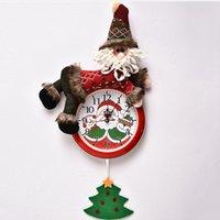 벽 시계 메리 크리스마스 홈 침실 시계 장식 Seashipping LJJP295 매달려 크리스마스 벽걸이 시계 산타 클로스 눈사람 크리스마스