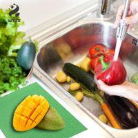 4pcs / lot Sihirli Sebze Gıda Taze Tutma Mat Buzdolabı Çekmece Emici Sünger Pas önleyici Pad Meyve Taze tutma Mat