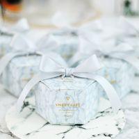 Matrimonio Marming Paper Candy Regts Box Box Dessert Borse Dessert Bomboniere Regali per gli ospiti Battesimo Souvenir Decorazione del partito Decorazione dei saldanti