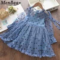 Menoea Children Princess Dress 2020 Summer Children Sleeveless Dots Clothes Dress Kids Clothing For Girls Dresses