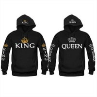 New Couple Matching Hoodie King and Queen Love Matching Lett...