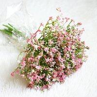 Ev Düğün bahçe dekorasyonu plastik sahte çiçekler Gypsophila için 16pcs / demet El yapımı bebek nefes Yapay Çiçekler yasemin