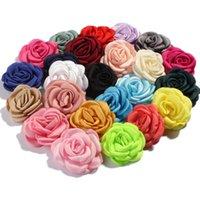 6 centímetros Moda queimado Artificial Rose Vintage Tecido flores para decoração de casamento Headband Cabelo DIY Grinalda decorativa