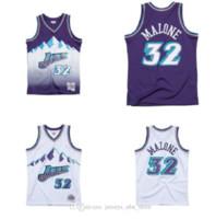 남자 농구 유타재즈32 Karl.Malone Mitchell Ness 1996-97 경재 고전 고전 정통 Jersey01.