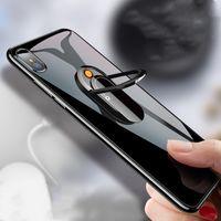 Soutien en trois dimensions Support de portable allume-cigare USB Creative anneau boucle de charge Briquet signature personnalisée Briquet