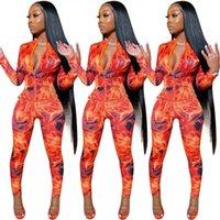 Tie Dye Gaze Fitness Esportes Desgaste Conjunto de Correspondência Mulheres Casuais Moda 2 Parte Outfits Zipper Manga Longa Topo e Calças