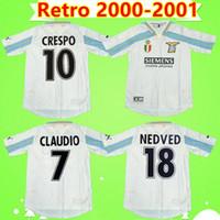 2000 camisetas de fútbol 2001 RETRO Lazio 10 CRESPO 9 SALAS 11 mihajlovic 21 INZAGHI Maglia da Calcio 00 01 camisetas de la vendimia Italia