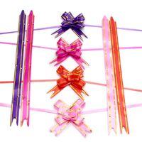 1.8 * 35 cm Pull Bows Wstążki Kwiat Prezent Wrapping Butterfly Design Wedding Party Decoration Pullbows Multi Color Option Boże Narodzenie