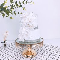 Spedizione gratuita Alzatine decorative piatto di dessert Pan di frutta del vassoio per i rifornimenti di nozze decorazione domestica della decorazione della torta di compleanno