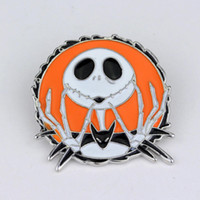 Dongsheng The Nightmare Before Skull Jack Skellington Pin Spilla smalto distintivo pin Broches per Halloween il giorno di Natale