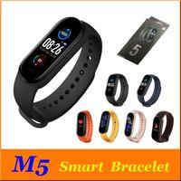 سوار M5 شاشة ملونة الذكية فرقة للياقة البدنية المقتفي ووتش الرياضة ضغط الدم معدل ضربات القلب Smartband مراقب الصحة الاسورة