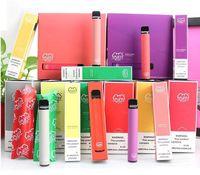 Новейшие 35 Цветов Puff Puff Plus Plus 800 + Puffs Одноразовый Vape Pen 550MAH Аккумуляторная батарея 3.2 мл Стручки Картриджи Предварительно заполненные E CIG