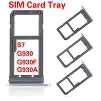 100PCS / LOT Schwarz / Gold / Silber-SIM-Karten-Behälter-Schlitz-Halter für Samsung-Galaxie S7 G930 G930F G930A Single / Dual-High Quality