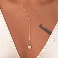 Collar de cadena de amor de corazón plateado de oro Pendiente Bijoux para fiesta para mujer Joyería de compromiso de boda para novia Regalo al por mayor