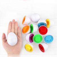 6Pcs Säuglings-Baby-Spielzeug-Puzzle-Spiel Lernspielzeug Erkennen Sie Farbe Form Kinder-Ei-Spielzeug-Kleinkind-Matching-Spielzeug-lustiges Geschenk der Kinder