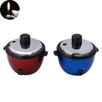 Mini butano accendino a gas ricaricabile Rice Shape fornello accendini Home Collection novità più leggero