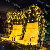 Cordes à LED 1.5x1.5m 3x2m 6x4M Net Mesh Mesh Fairy Garland Fenêtre Fenêtre Fenêtre Christmas De Noël Fête vacances DHL