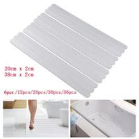 Anti-slip tiras de chuveiro adesivos de banho segurança tiras transparentes antiderrapantes adesivos banheiros casa de banho antiderrapante