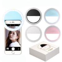 RK12 Şarj Edilebilir LED Işık Selfie Işık Halka Işık Flaş Lambası Selfie Yüzük Aydınlatma Kamera Fotoğrafçılığı Için iPhone Samsung