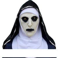 La maschera Nun Valak Deluxe lattice Spaventoso completa Maschera capo di Halloween Cosplay accessorio del partito di Halloween A05