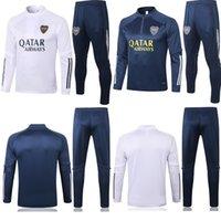 NUOVO 2020 2021 Kit adulto Maniche lunghe Boca Juniors Giacca Uniformi Tracksuits Scelcio Jersey 20 21 Cappotto da calcio Treno Allenamento Camicia Suit Kit