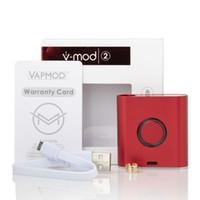 100% Original Vapmod vmod II Battery 900mAh Pré-aqueça o VV Variable Voltage Vape Mod Kit de bateria para 510 cartuchos DHL livre