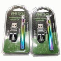 Arcobaleno Vertex 510 Vape Batteria Preriscaldare Vape Pen E Cig batteria E Cigarettes Vape Kit 350mAh tensione variabile vaporizzatore Pen Batterie
