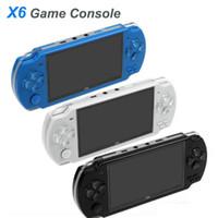 PSP Oyun Deposu Klasik Oyunlar TV Çıkışı Taşınabilir Video Game Player MQ10 için PMP X6 El Oyun Konsolu Ekran