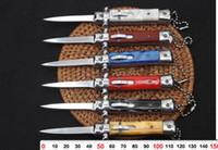 권장 4.5 인치 이탈리아어 마피아 자동 칼 6 색 선택 필드 생존 도구 야외 전술 사냥 칼 야외 접는