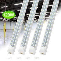 NOUVEAU intégré vshap 2.4m 8ft 72W Led T8 Tube Lumières SMD2835 384 Leds LEDGlow lumières chaud blanc froid givré transparent Couverture 85-265V