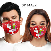 2020 maschere moda maschera di protezione per adulti del fumetto lavabile Natale maschera stampata maschera foschia polveri PM2,5 può essere inserito con filtro