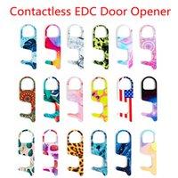 I8style Acryl Contactless-Tür-Öffner Freihändige EDC Sicherheit Tragbare No Touch Press Höhenverstelltaste Werkzeuge HHA1562