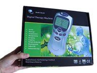 LCD Decine Unità Agopuntura Terapia macchina digitale Massaggiatore Terapia del dolore fili +4 pads + 4 vie con adattatore AC