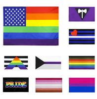90x150cm Regenbogen-Fahnen und Banner Lesben Homosexuell Pride amerikanische Homosexuell Flagge Polyester Bunte Flagge für Dekoration w-00286