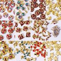 100 Stück / Packung 3D-Sailor Moon-Glitter-Entwurf Nagel-Kunst-Aufkleber-Abziehbilder Strass-Sternchen-Gold-Maniküre DIY Dekoration-Werkzeuge
