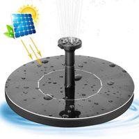 Bomba Bomba panel solar Fuente de agua flotante Mini energía solar Fuente de agua de estanque de jardín Inicio piscina del baño del pájaro de rociadores