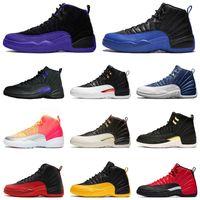 الأزياء كرة السلة الأحذية 12S الظلام كونكورد ريترو الظلام كونكورد جامعة الذهب Jumpman 12 هوت لكمة الشروق رجل حذاء رياضة مدرب حجم 13