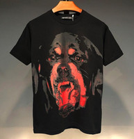 2020 Yaz Erkek Kadın Yüksek Kalite Pamuk Tişört Klasik Tasarım Red Dog Kafa Baskılı Gevşek Kısa Sleeve Tişört Öğrenci dibe Tişört