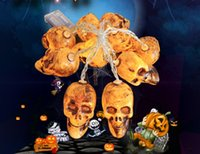 2020 cadena fantasma de la calabaza caja de la batería araña bate esqueleto fabricante de la lámpara de la venta directa Nueva Halloween decoraciones