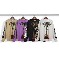 2020 yeni Triko Moda Erkekler Kadınlar Yüksek Kalite Triko Kazak Uzun Kollu Hindistancevizi ağaçları Baskılı Çift Kazaklar Boyut S-XL