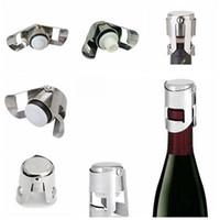 Из нержавеющей стали бутылки вина пробки вакуума Запечатанные бутылки вина Люки подключи Нажатие кнопки Тип шампанского Крышка Бар вина Инструменты IIA477