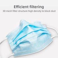 100pcs masque à usage unique tissu meltblown, filtration à trois couches, l'utilisation facile, confortable à porter, la respiration et la livraison rapide sans re