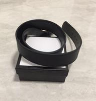 Moda uomo / donna Cintura di alta qualità in vera pelle di cuoio di colore nero cuoio per cinture da uomo con scatola