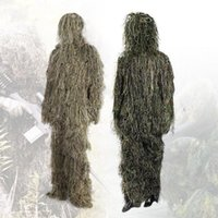 Camouflage Hunting Ghillie Suit Secretive Hunting Aerial Sho...