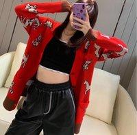 Мужские свитеры мода животных шаблон кардиган модный женский kintwear 2021 высокое качество
