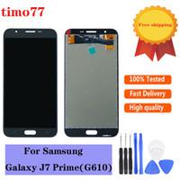 OEM% 100 test edilmiştir Çalışma LCD için Samsung Galaxy J7 Prime G610 G610F G610K G610L G610S LCD Ekran Sayısallaştırıcı Dokunmatik Ekran Montaj