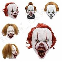 5Styles Хэллоуин маски силикона Movie Стивена Кинга Это 2 Joker Pennywise Маска анфас Horror клоуна Косплей Prop партии Маски RRA3628