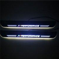 مقاوم للماء تتحرك LED ترحيب دواسة سيارة جرجر لوحة دواسة باب عتبة الباب ضوء المسار لسيارات BMW E46 1998-2004 2005