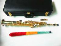 Le novità Giappone sassofono SS-W037 B flat Sassofono Soprano Sax strumenti musicali in ottone nichelato argento placcato con il caso professionale