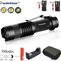 Protable Led pêche vélo léger Zoom Torche Q5 / T6 / L2 linterna LED Lanterna utilisation étanche 14500/18650 batterie